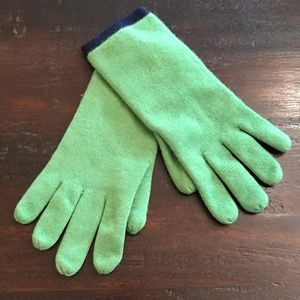 Accessories - NWOT Green/Blue Reversible Knit Gloves